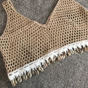Knitted Crochet Harlem Cop Top