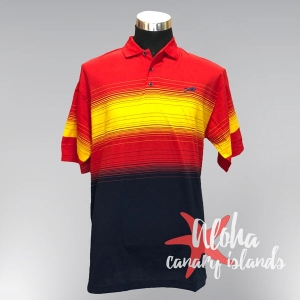 Hugo Samuel Red Yellow Red Spain Gradient Polo
