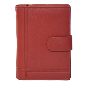 Alex & Co Red Italian Leather Wallet