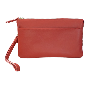 Alex & Co Red Italian leather double sided purse