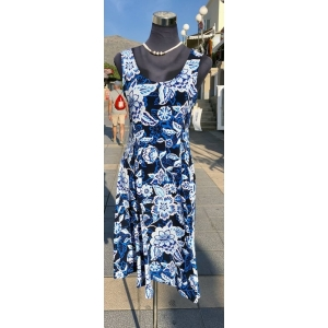 Blue Jungle Sleeveless Dress