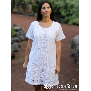 Rosette - White Lace Dress