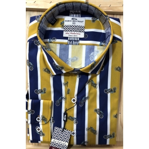 Dario Beltran Bellota Striped Motorcycle Shirt