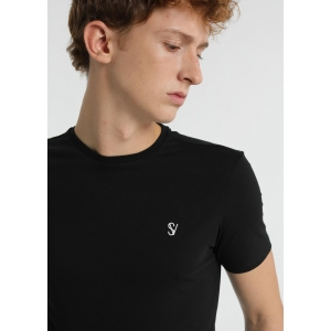 Six Valves Basic Black T-Shirt