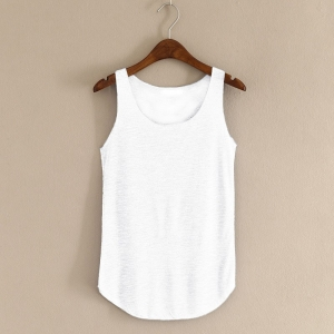 Sleeveless Roundneck T-Shirt Tank Top