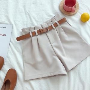 Pantalones Cortos Tiro Alto estilo Coreano