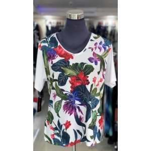 Canarian Flowers Short Sleeved Top