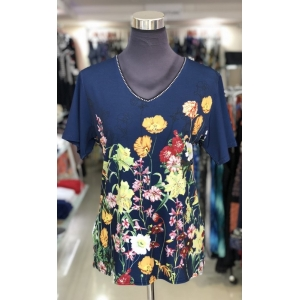 Garden Flowers Short Sleeved Top