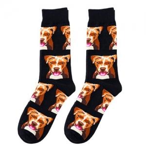 Boxer Dog Print Socks