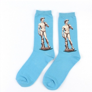 David of Michelangelo Printed Socks