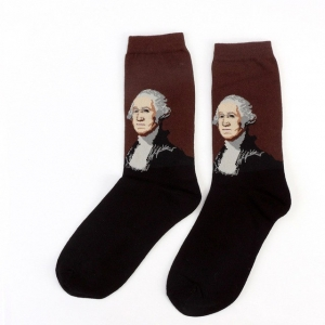 George Washington Printed Socks
