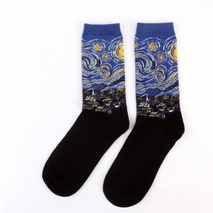 The Starry Night of Vincent Van Gogh Printed Socks