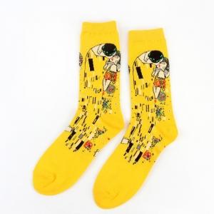 The Kiss of Gustav Klimt Printed Socks