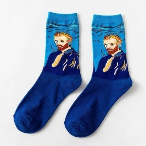 Portrait of Vincent van Gogh Printed Socks