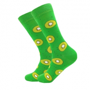 Kiwi Fruit Green Printed Socks