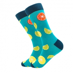 Grapefruit & Lime Printed Socks