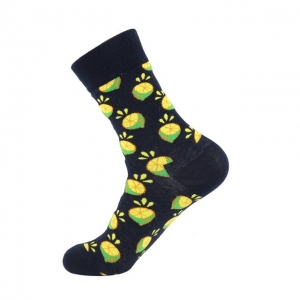 Sliced Lemons Printed Socks