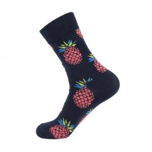 Big Pineapples Black Printed Socks