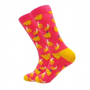 Pink Banana Printed Socks