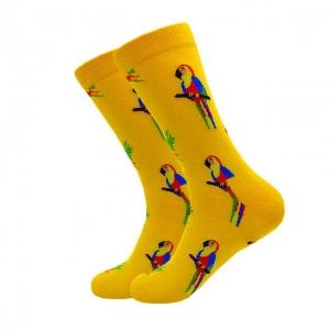 Parrot Yellow Printed Socks