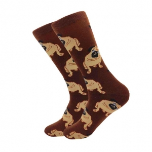 Pug Dog sitting Printed Socks