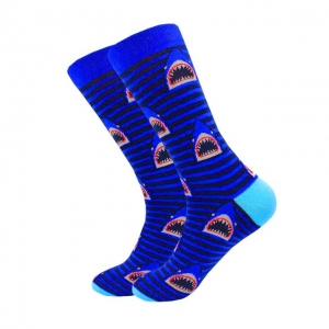 Shark Attack Lines Printed Socks