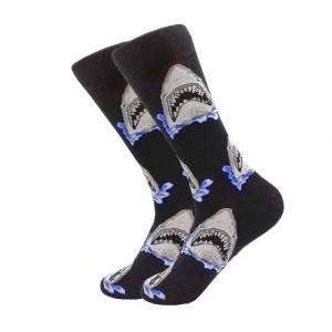 Shark Attack Printed Socks