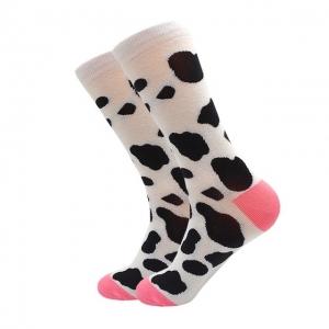 Calcetín estampado con patrón de vaca lechera