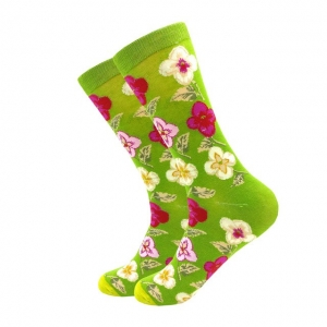 Green Garden Printed Socks