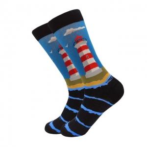Beach Lighthouse Printed Socks