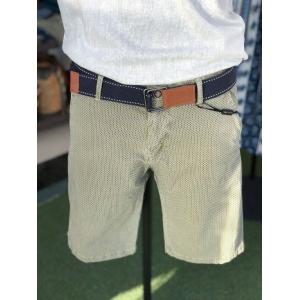 Shorts caqui elásticos punteados