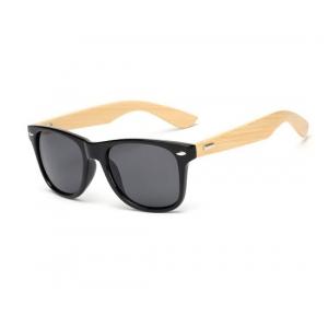 Black Glossy Bamboo Wayfarer UV400 Sunglasses