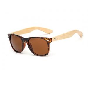 Gafas tortuga de bambú UV400 Wayfarer