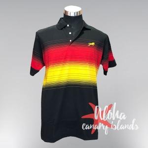 Hugo Samuel Red Yellow Black Gradient Polo