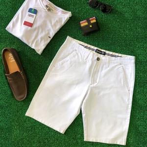 Espana Cotton White Chino Shorts