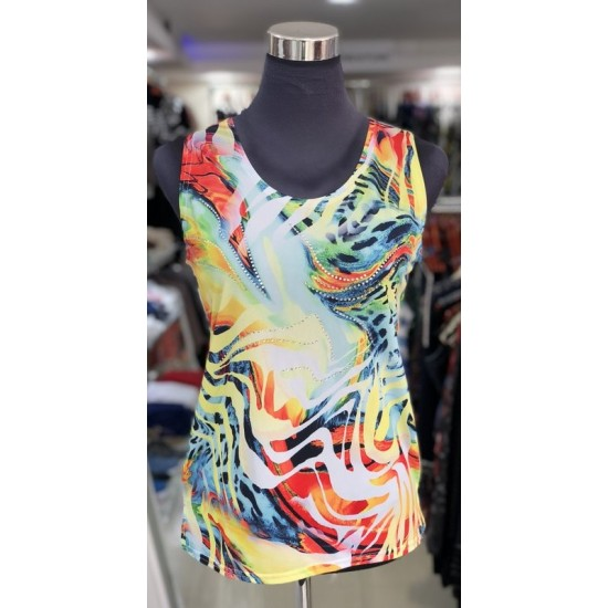 Tropical Jungle Sleeveless Top