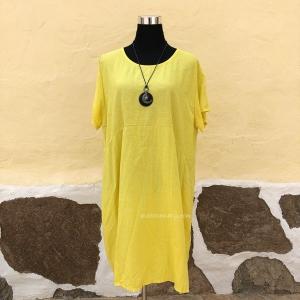 Vestido Túnica Algodón Rayas Finas
