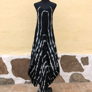 Tie-dye Sleeveless Maxi Long Strap Dress