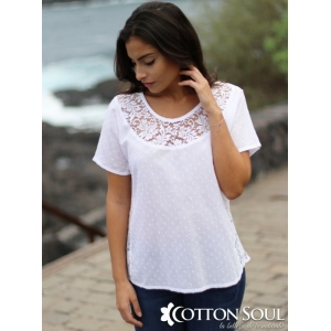 Nina - Laced Neck Blouse