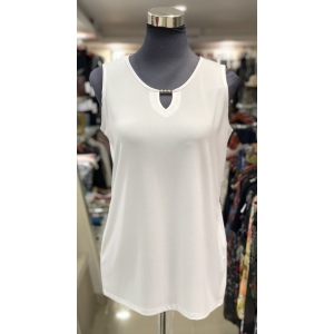 Plain White Sleeveless Top