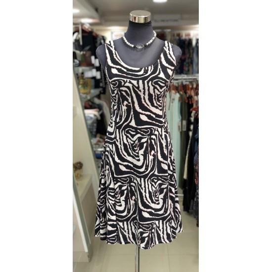 Zebra Psychedelic Sleeveless Dress