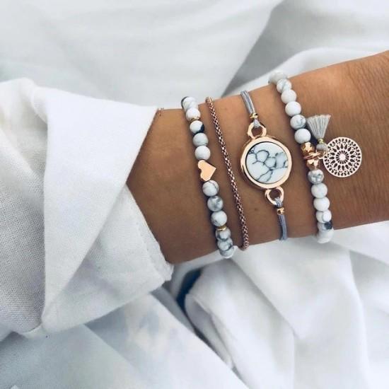Marble Love Charm Bracelet