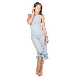 Blue Dalia Long Dress