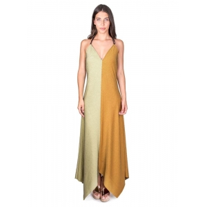 Veronica Mustard Green Maxi Dress