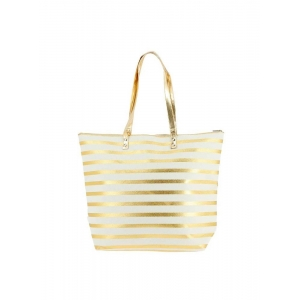 White Golden Stripes Bag