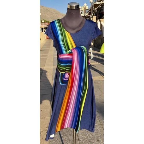 Rainbow Knot Print Dress