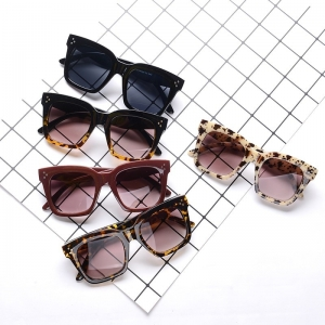 Oversized Rectangle Gradient Sunglasses