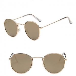 Gafas de sol retro redondas de metal