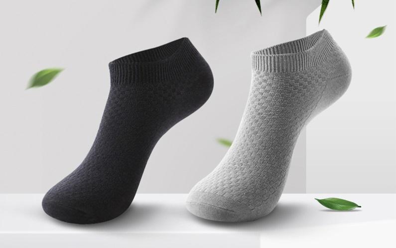 calcetin corto fibra bambu