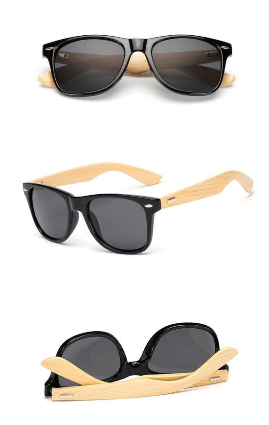 Black Glossy Bamboo UV400